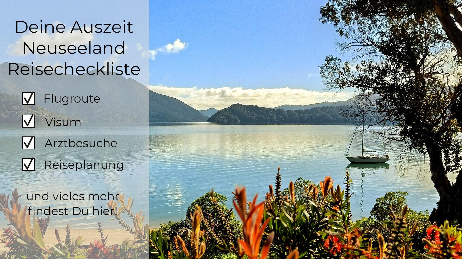 Auszeit Neuseeland Reisecheckliste
